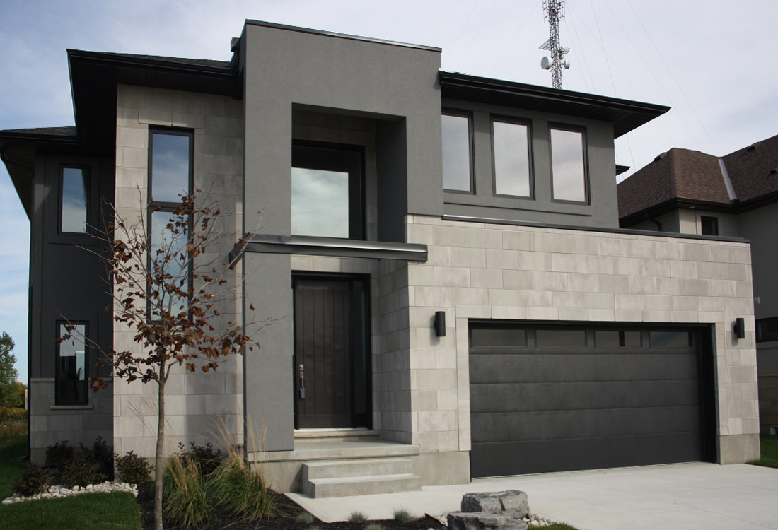 Masonryworx selects top five best contemporary masonry buildings ontario construction report for Mordern house