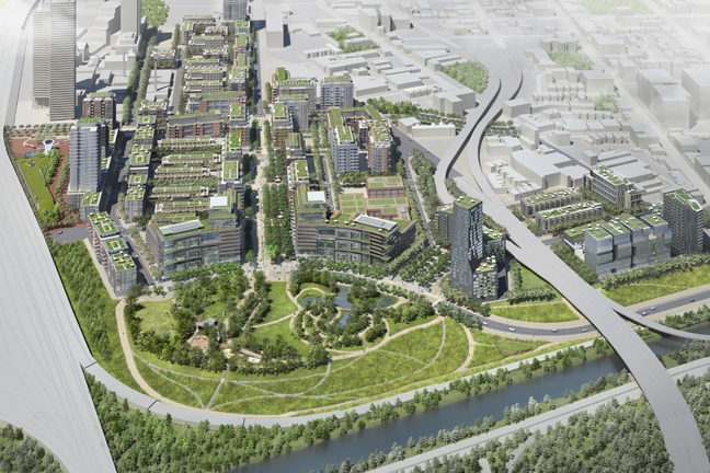 Rendering of West Don Lands project