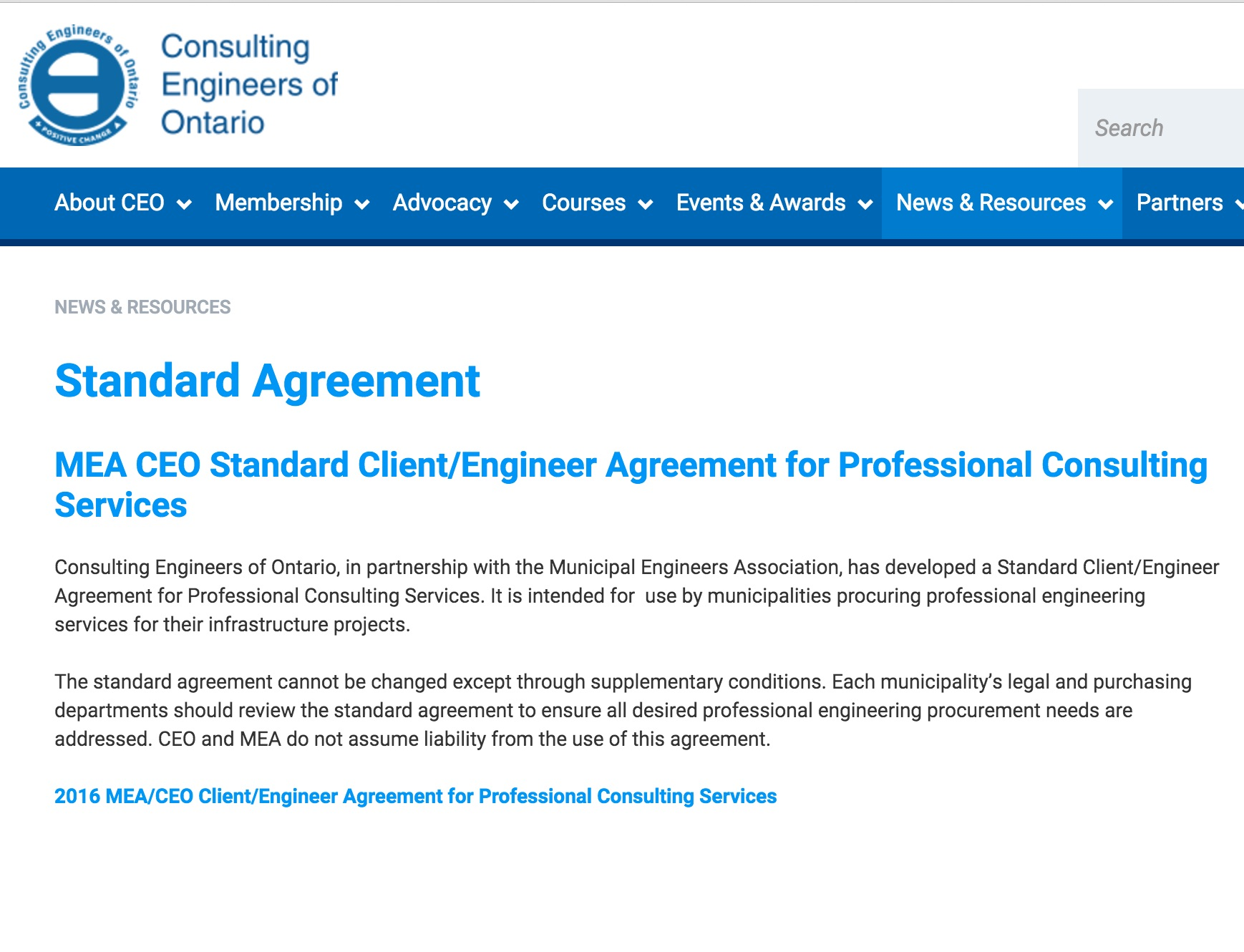 ceo standard agreement