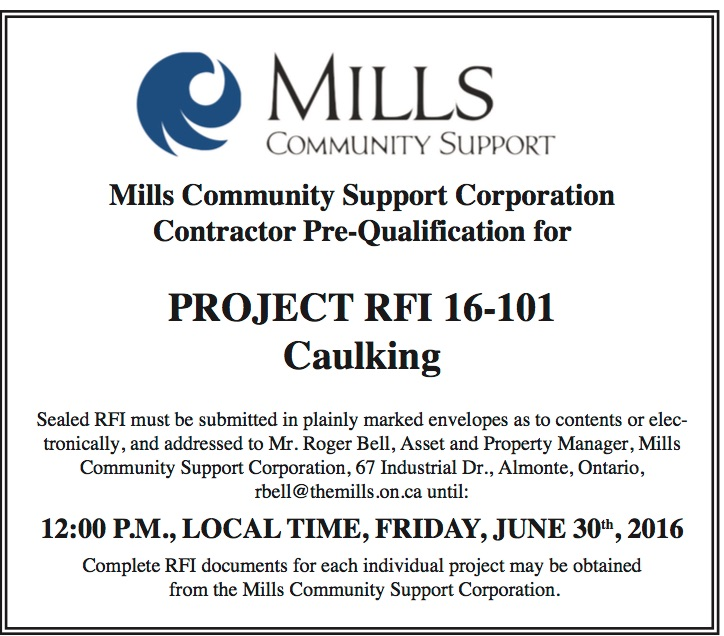 mills prequalification opportunity