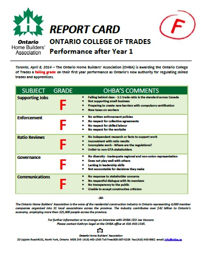 ocot report card