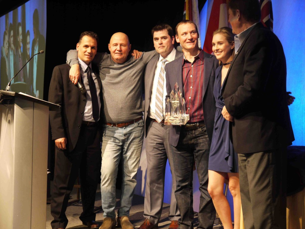 The PCL team receives the OGCA's Best Project Award at the association's symposium in April