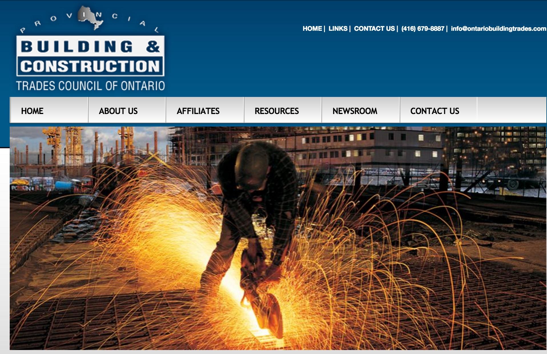 building trades website