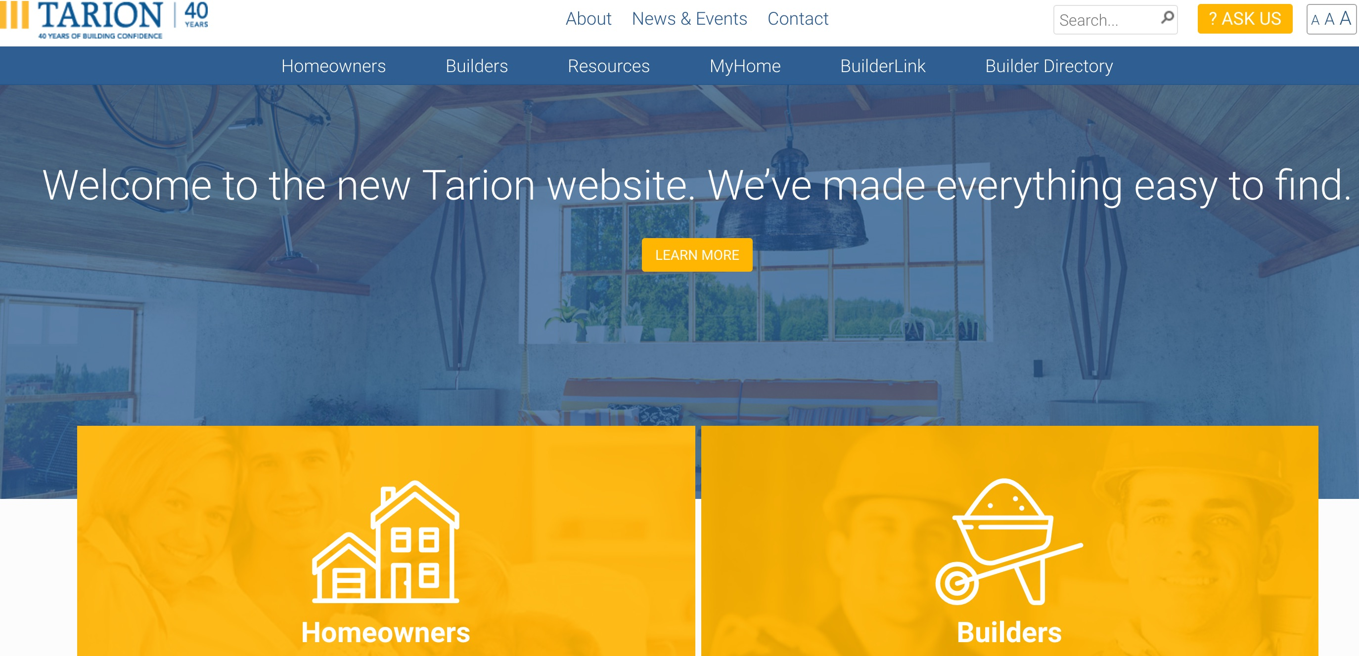 tarion website