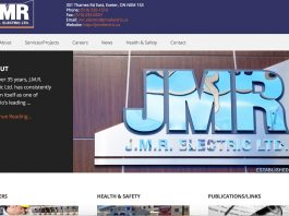 JMR Electric website