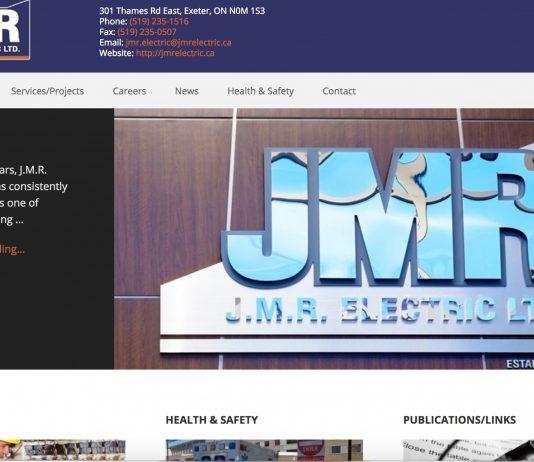JMR Electric website