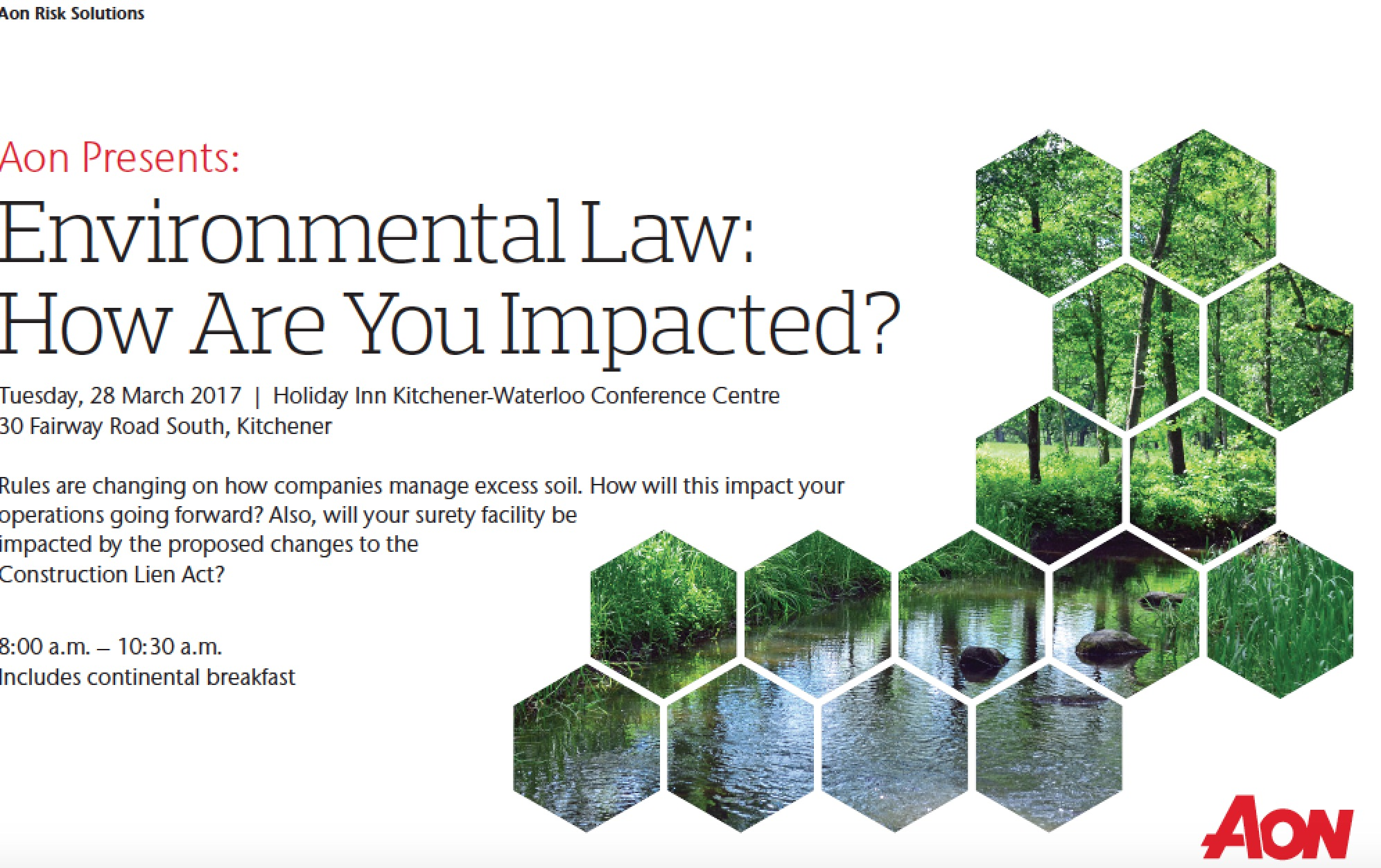 Aon presents environmental law program in KItchener | ontario ...