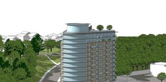 Rendering of the 13-storey residential development