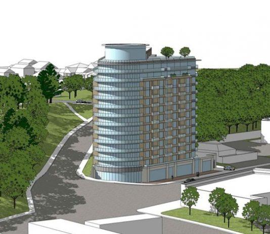 Rendering of the 13-storey residential development