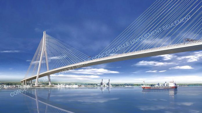 Gordie howe bridge rendering
