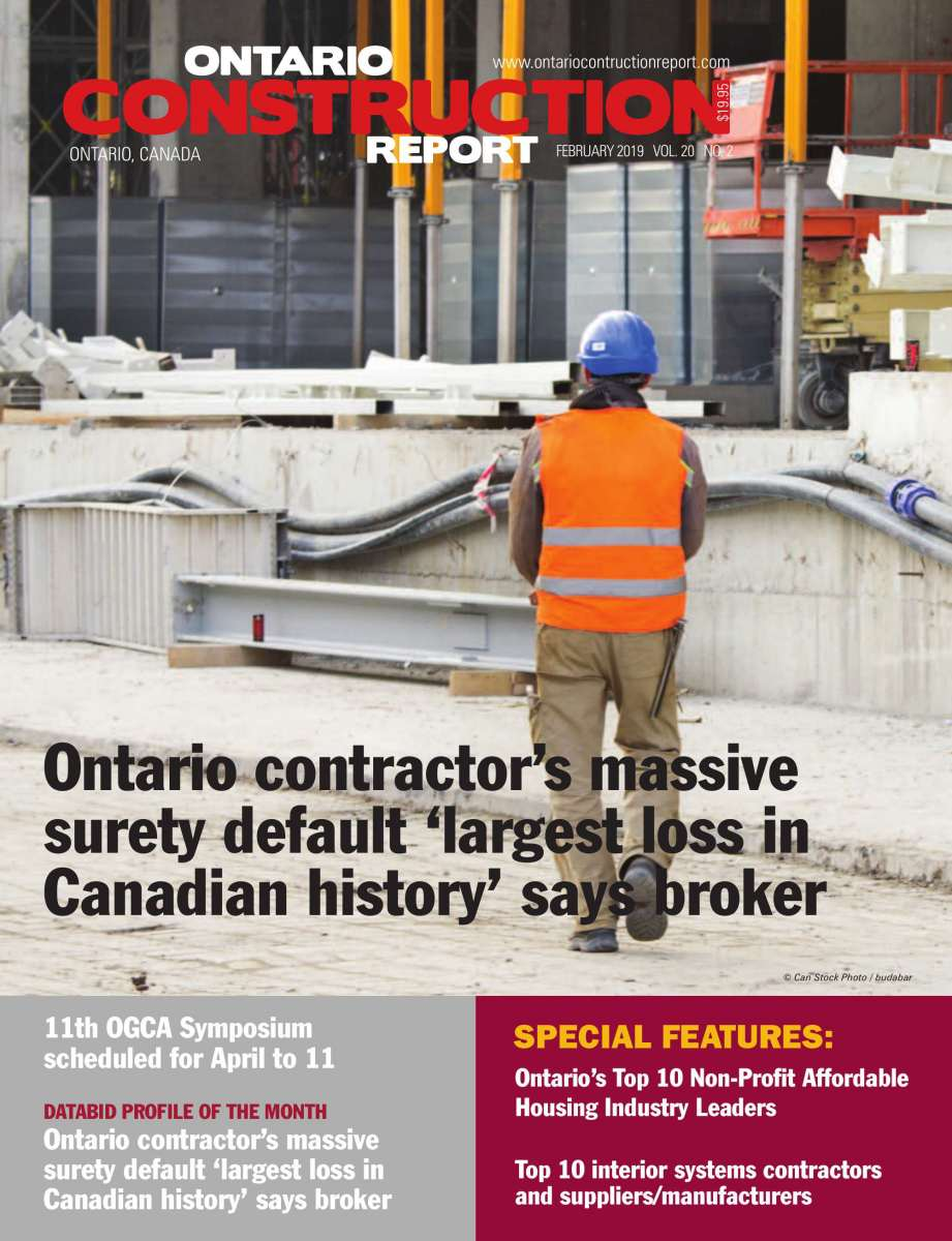 Ontario Construction Report: February issue published