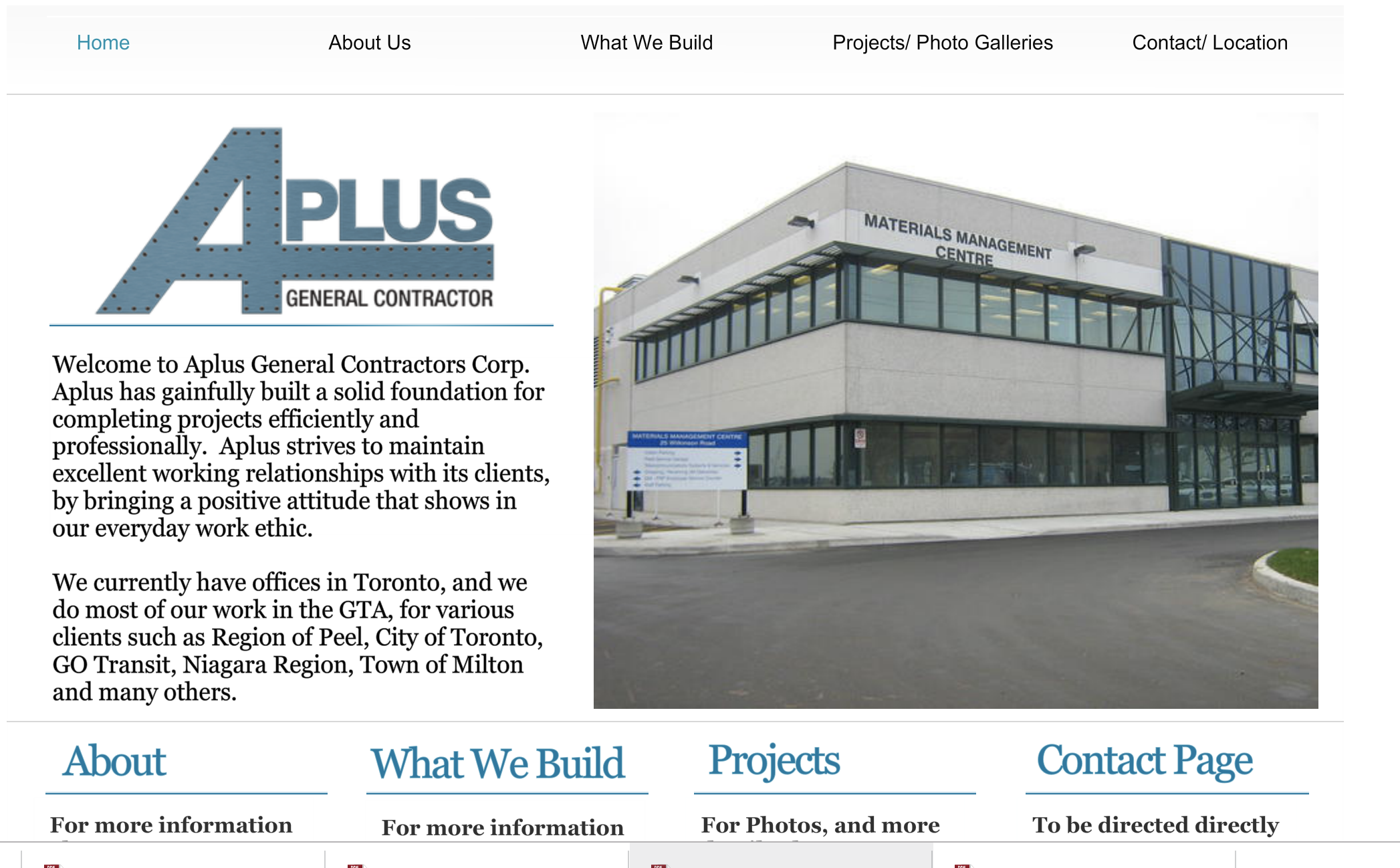 City of Toronto gives Aplus General Contractors a