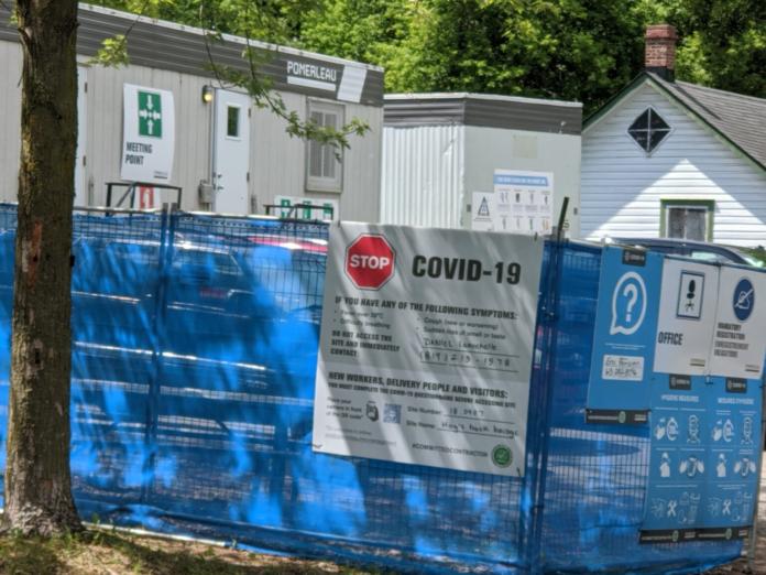 covid 19 construction site