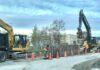Construction work in Clarington