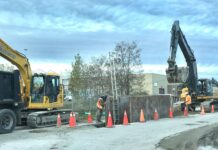 Construction work in Clarington